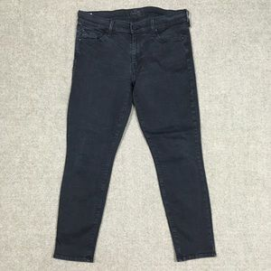 Mother The Looker Crop Black Jeans Womens 30